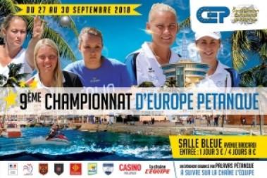 Du 27 au 30 septembre 2018, Palavas accueille les Championnats d'Europe Féminins